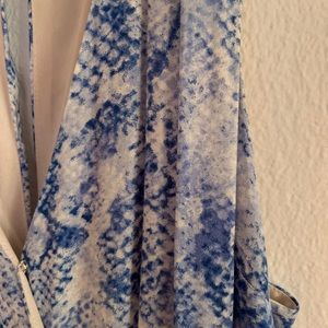 Ark & Co Other - Blue snakeskin wide leg jumper
